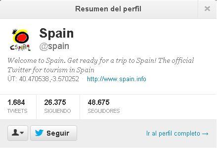 cuenta oficial de twitter españa