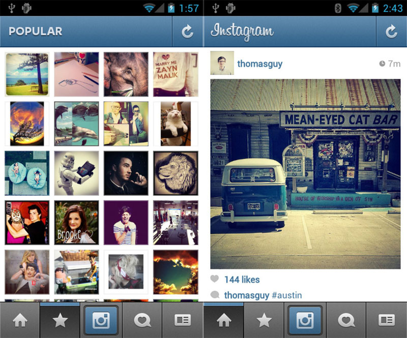 captura instagram ordenador