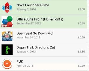 Lista de App